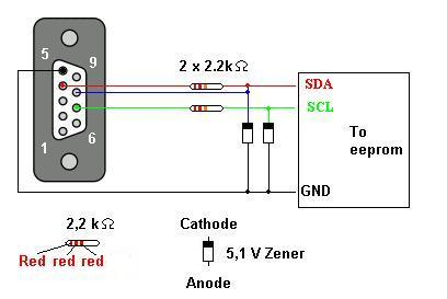 Serial Eeprom 24c04 on zener diode code