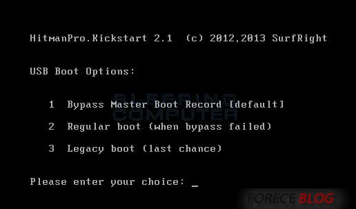 kickstart-usb-boot-options